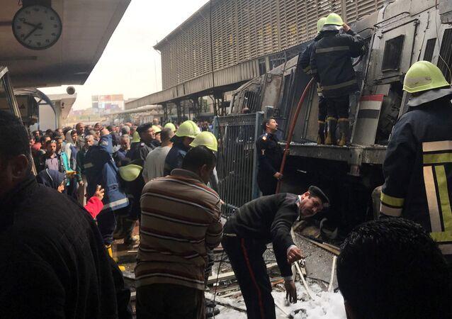 انفجار في محطة قطارات رمسيس في مصر