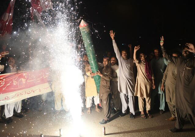 تصاعد التوتر بين الهند و باكستان - ماظاهرات في كاراتشي، باسكتان، شباط/ فبراير 2019
