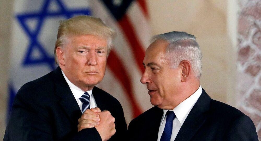 نتنياهو وترامب في أثناء زيارة الأخير إلى القدس