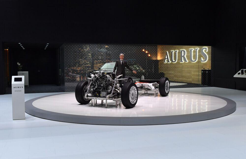معرض جنيف الدولي للسيارات لعام 2019 - جناح شركة Aurus الروسية