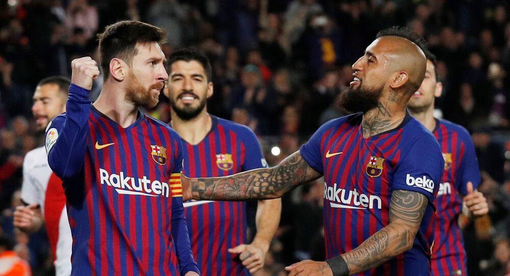 مباراة برشلونة ورايو فاليكانو في الدوري الإسباني