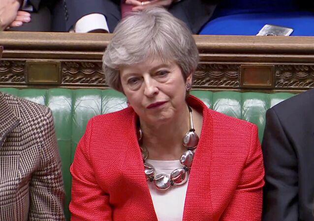 تريزا ماي بعد رفض البرلمان البريطاني خطتها للخروج من الاتحاد الأوروبي للمرة الثانية