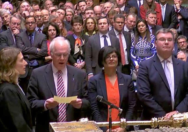 إعلان نتائج التصويت على الخطة الثانية للخروج من الاتحاد الأوروبي في البرلمان البريطاني