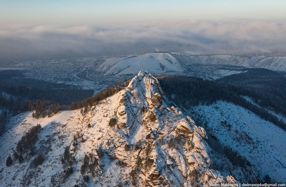 منظر لجبال كراسنويارسك