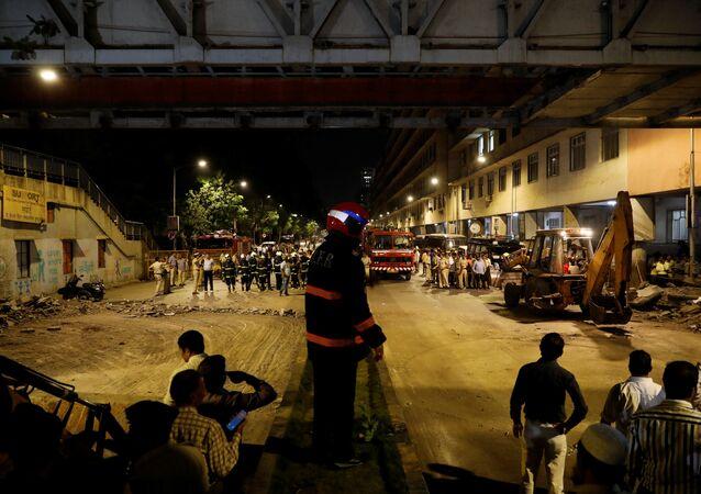 انهيار جسر للمشاة في مومباي الهند، 14 مارس/آذار 2019