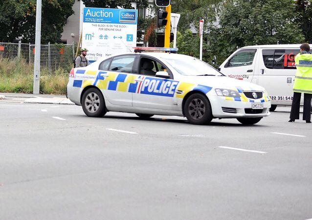 الشرطة في مكان الهجوم الإرهابي على مسجدين في نيوزيلاندا
