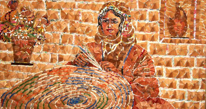 ثمانيني سوري يرسم ببروات أقلام الرصاص لوحات رائعة عن الحب والوطن