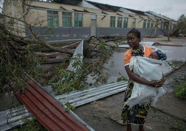 آثار الإعصار في موزمبيق