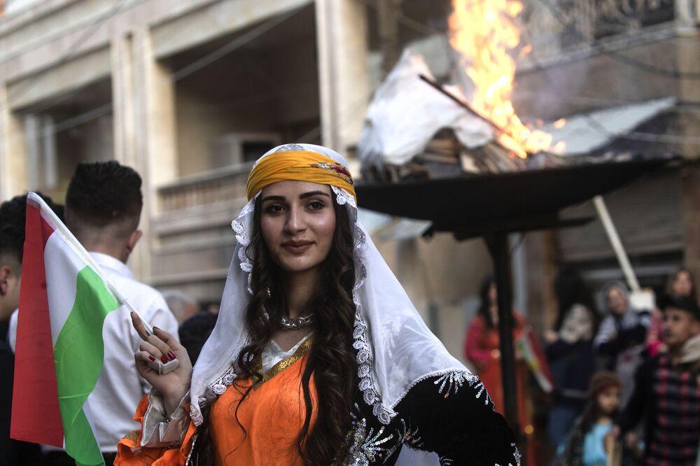 احتفالات الأكراد بعيد النوروز في سوريا، 21 مارس/ آذار 2019
