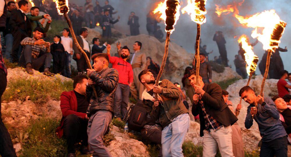 احتفالات الأكراد بعيد النيرزو (النوروز) في كردستان العراق، 20 مارس/ آذار 2019
