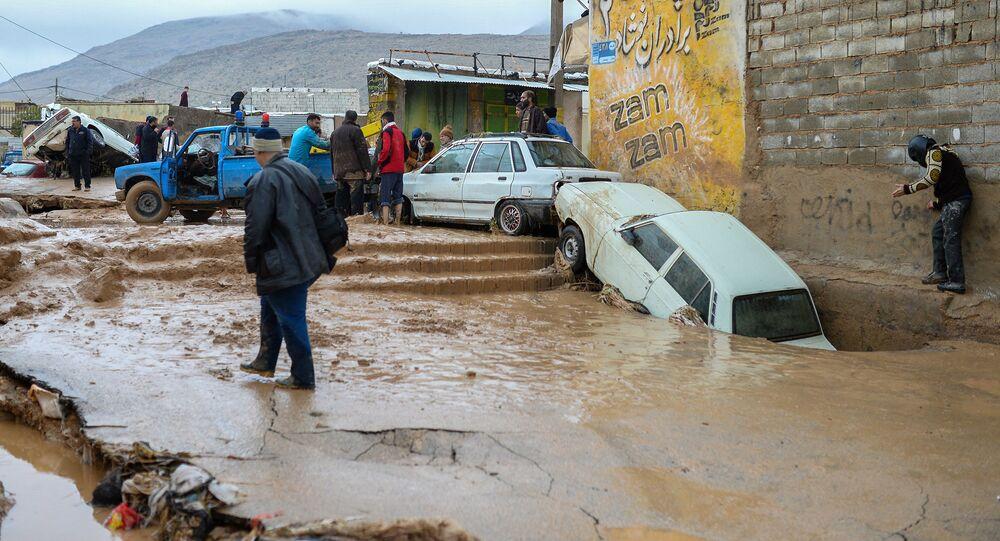إيران - المناطق المنكوبة إثر السيول الهائلة التي غمرت البلدات الإيرانية، 26 مارس/ آذار 2019