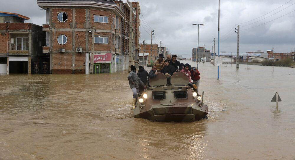 إيران - المناطق المنكوبة إثر السيول الهائلة التي غمرت البلدات الإيرانية، 25 مارس/ آذار 2019