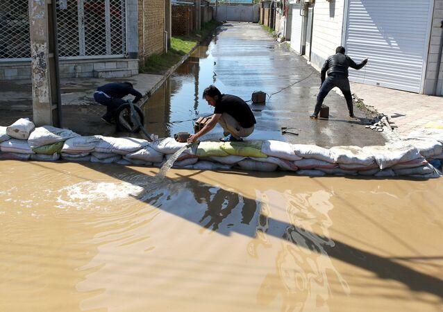 إيران - المناطق المنكوبة إثر السيول الهائلة التي غمرت البلدات الإيرانية، 24 مارس/ آذار 2019