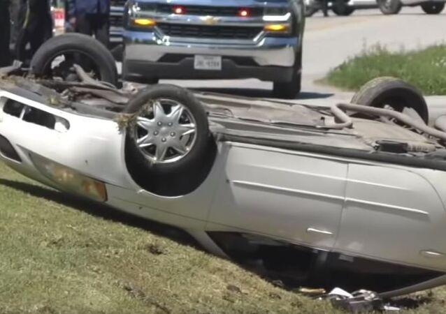 حادث سيارة مروع