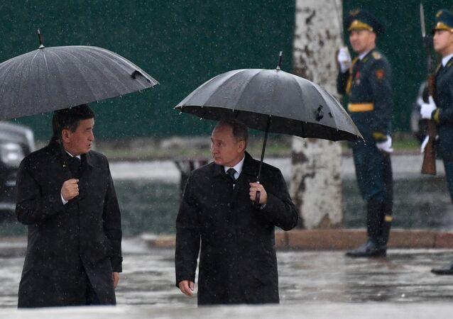 الرئيس الروسي يقوم بزيارة إلى قيرغيزستان، 28 مارس/آذار 2019