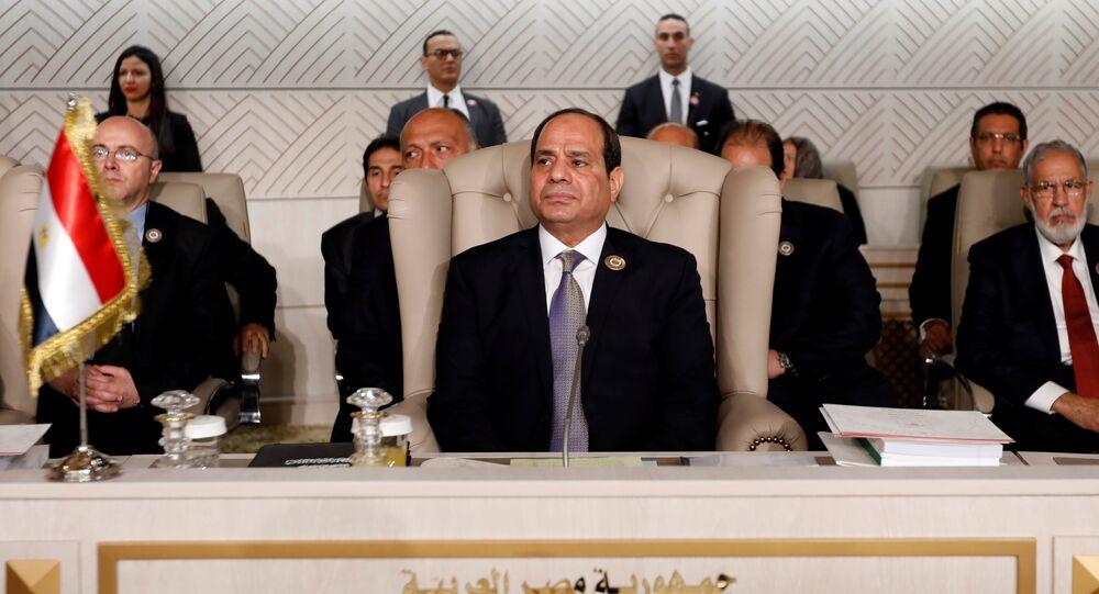 الرئيس المصري عبد الفتاح السيسي يحضر القمة العربية الثلاثين في تونس
