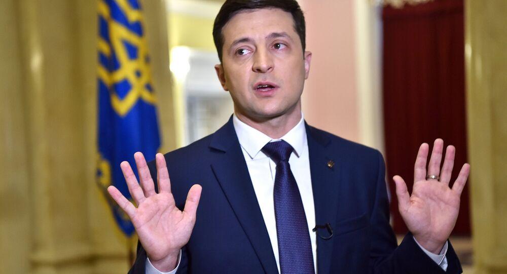 مرشح للرئاسة الأوكرانية فلاديمير زيلينسكي