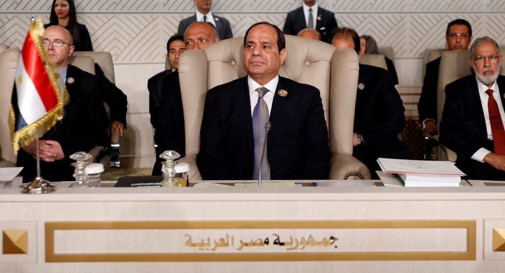 الرئيس المصري عبد الفتاح السيسي يحضر القمة العربية الـ 30 في تونس، تونس، 31 مارس/ آذار 2019