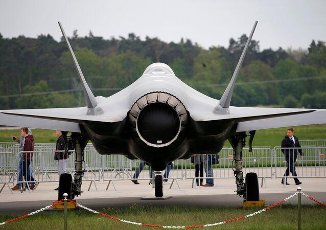 طائرة لوكهيد مارتن F-35 في معرض الطيران ILA في برلين