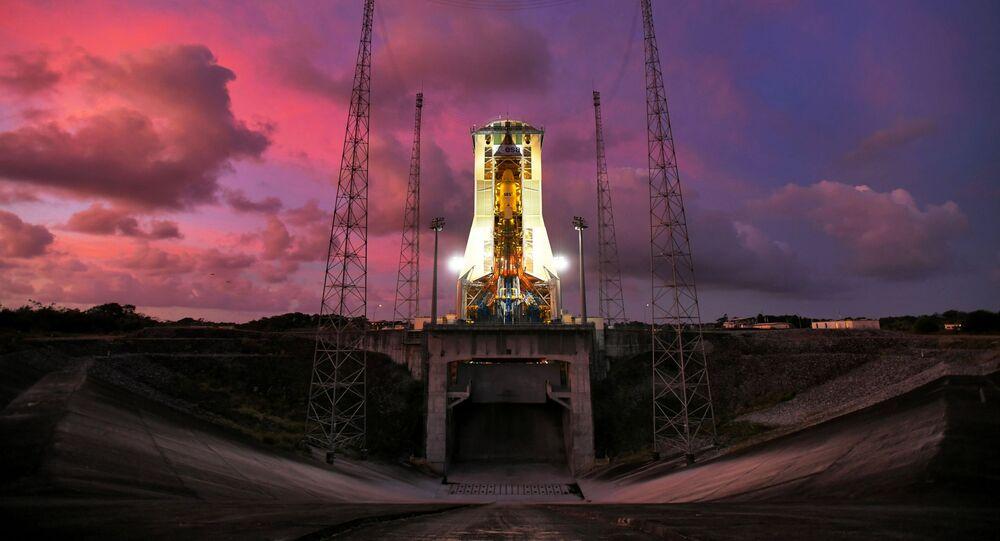 إطلاق صاروخ حامل من ميدان كورو في غيانا الفرنسية