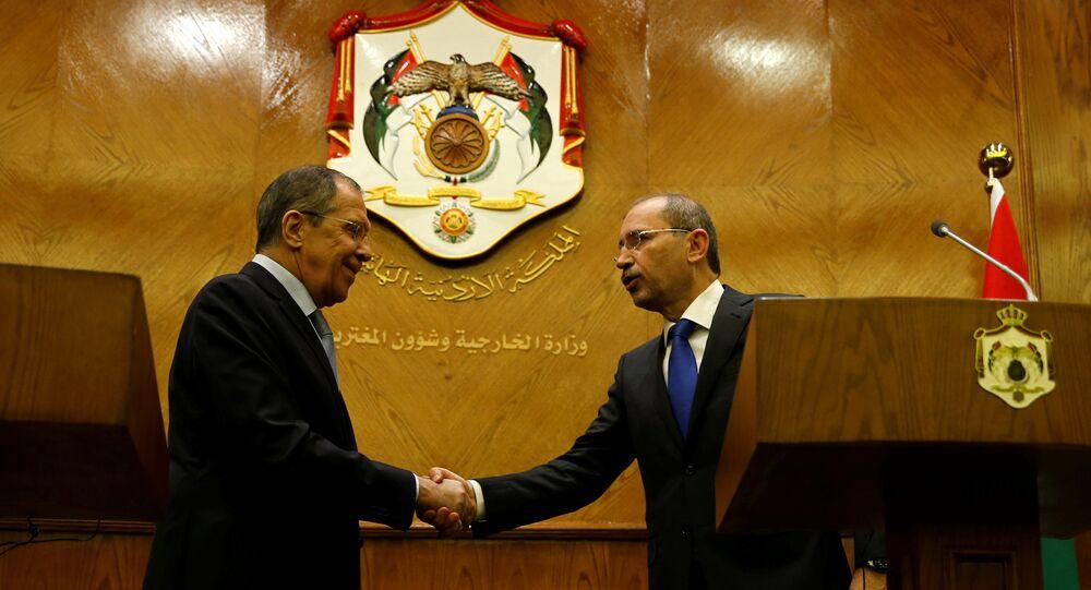 سيرغي لافروف ونظيره الأردني