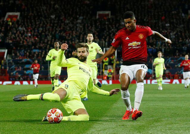 من مباراة برشلونة أمام مانشستر يونايتد