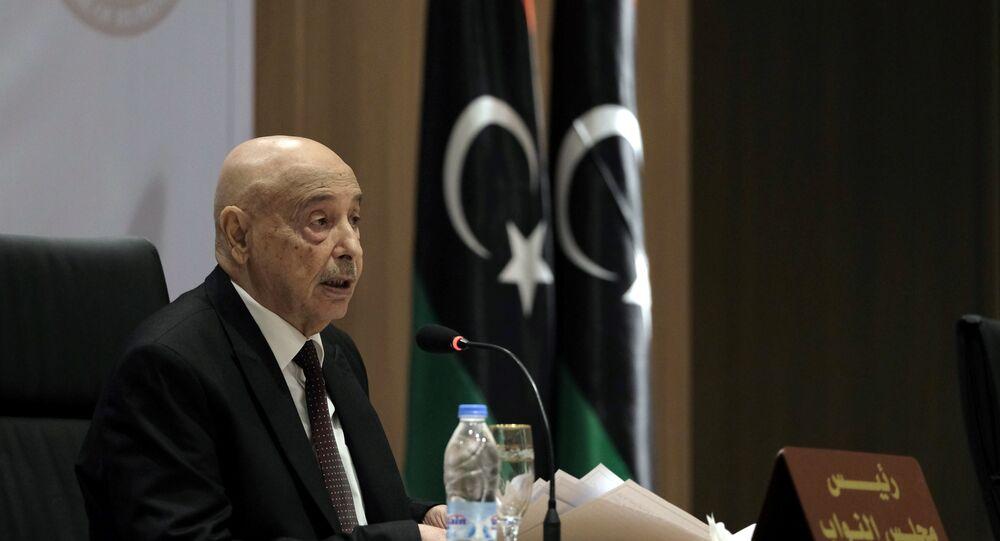 رئيس مجلس النواب الليبي المستشار عقيلة صالح