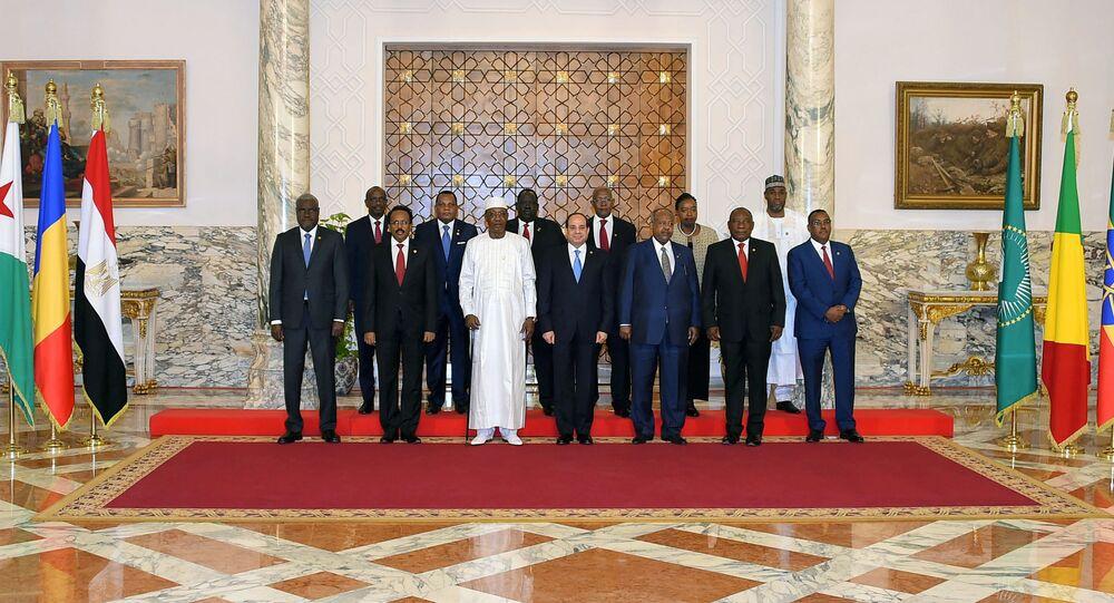 اجتماع لقادة الاتحاد الإفريقي بقيادة الرئيس المصري عبد الفتاح السيسي