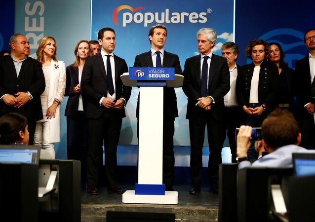 بابلو كاسادو  زعيم الحزب الشعبي المحافظ في إسبانيا
