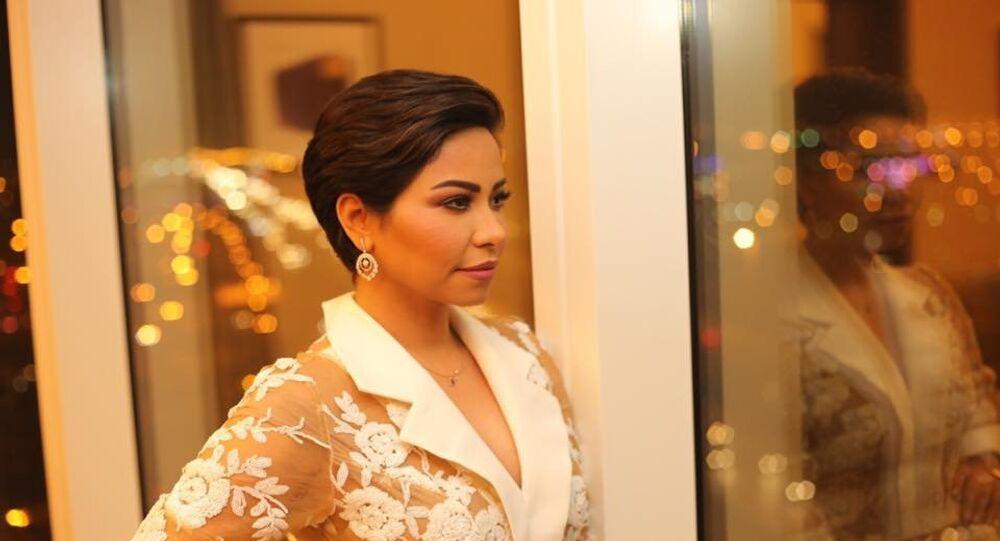 المطربة المصرية شيرين عبد الوهاب في حفلها الأول بالعاصمة السعودية الرياض