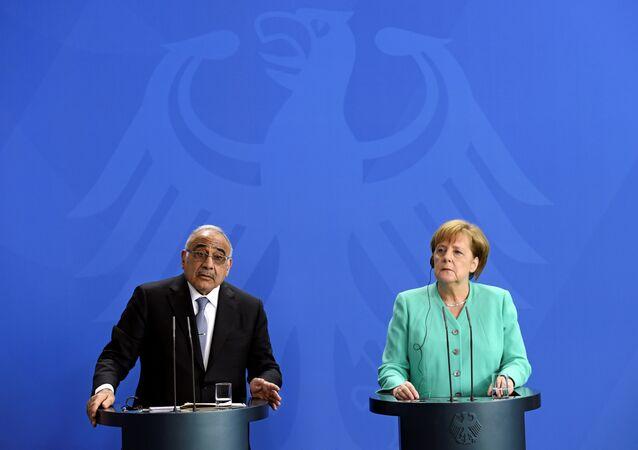 رئيس مجلس الوزراء العراقي، عادل عبد المهدي و المستشارة الألمانية، أنغيلا ميركل