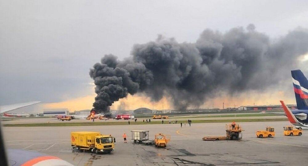 حادث طائرة الركاب في مطار شيريميتيفو