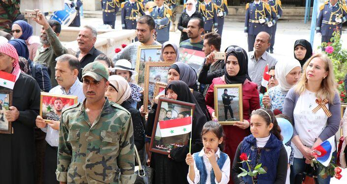 حلب تحتفل بالذكرى الـ74 للنصر الروسي على النازية