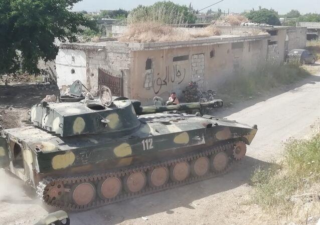 اقتحام الجيش السوري معاقل جبهة النصرة في الحويز بريف حماة