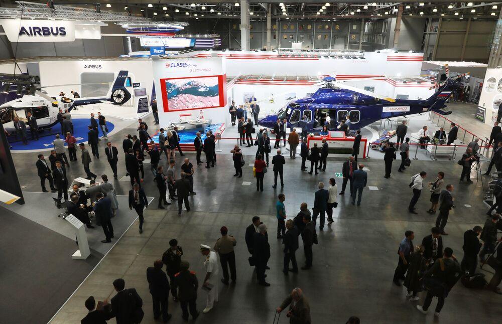 المعرض الدولي الثاني عشر لصناعة المروحيات HeliRussia - 2019 في معرض كروكوس إكسبو في موسكو