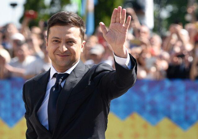 فلاديمير زيلينسكي يؤدي اليمين الدستوري في قاعة البرلمان ويتولى منصب رئيس أوكرانيا، كييف 20 مايو/ أيار 2019