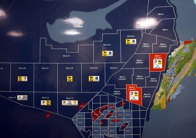 خريطة النفط اللبناني