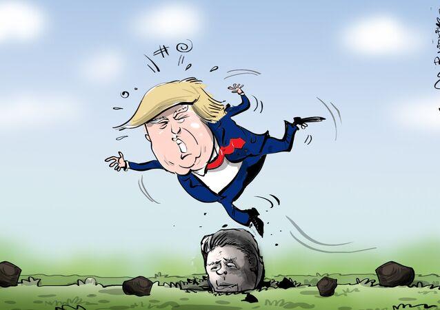 ترامب يقارن تيرلسون بالـ الحجر