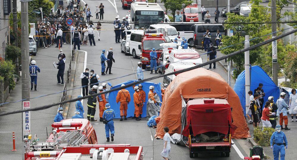 حادث الطعن في مدينة كاواسكي بالقرب من طوكيو في اليابان