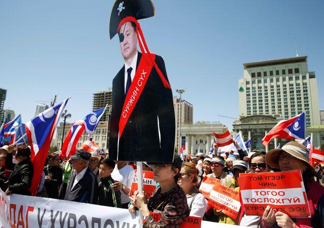 احتجاجات في منغوليا