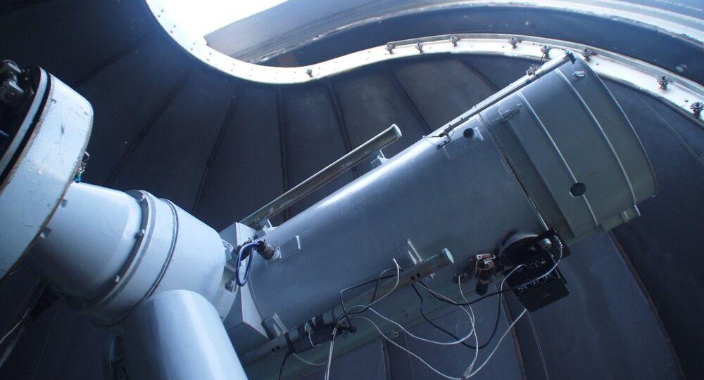تلسكوب متري في مرصد كوروفك الفلكي التابع لجامعة الأورال الفيدرالية