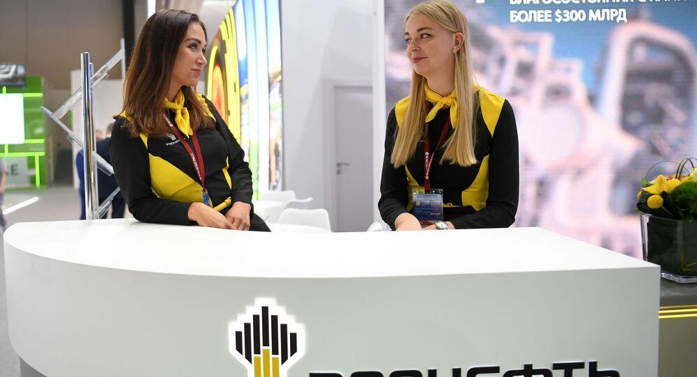 منتدى سان بطرسبورغ الدولي الاقتصادي لعام 2019 - جناح شركة روسنفط