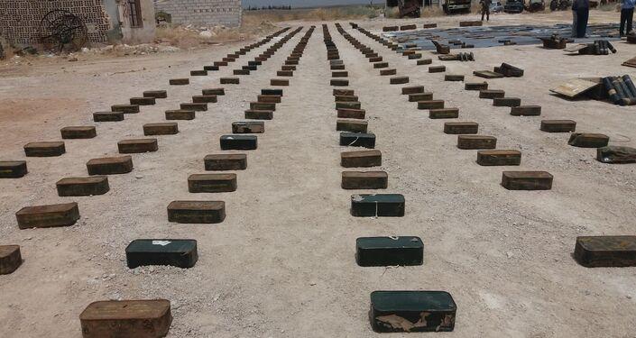 الأمن السوري يضبط أسلحة وذخائر بالقرب من الجولان السوري المحتل