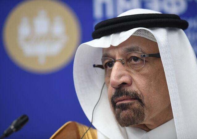 وزير الطاقة السعودي خالد الفالح في منتدة سان بطرسبورغ الاقتصادي الدولي، 7 يونيو/ حزيران 2019