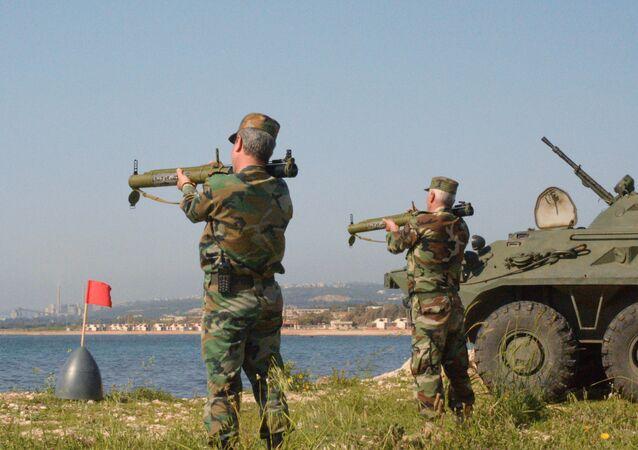 مناورات عسكرية مشتركة بين سوريا وروسيا في طرطوس