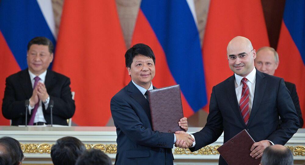 الصفقة بين هواوي وشركة إم تي إن الروسية