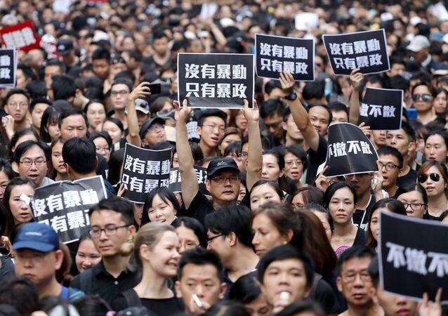 احتجاجات في هونغ كونغ ضد قانون تسليم المطلوبين إلى الصين، 16 يونيو/حزيران 2019