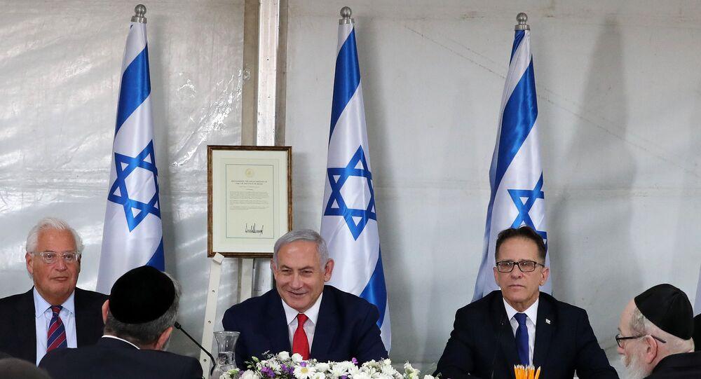 جلسة الحكومة الإسرائيلية في الجولان