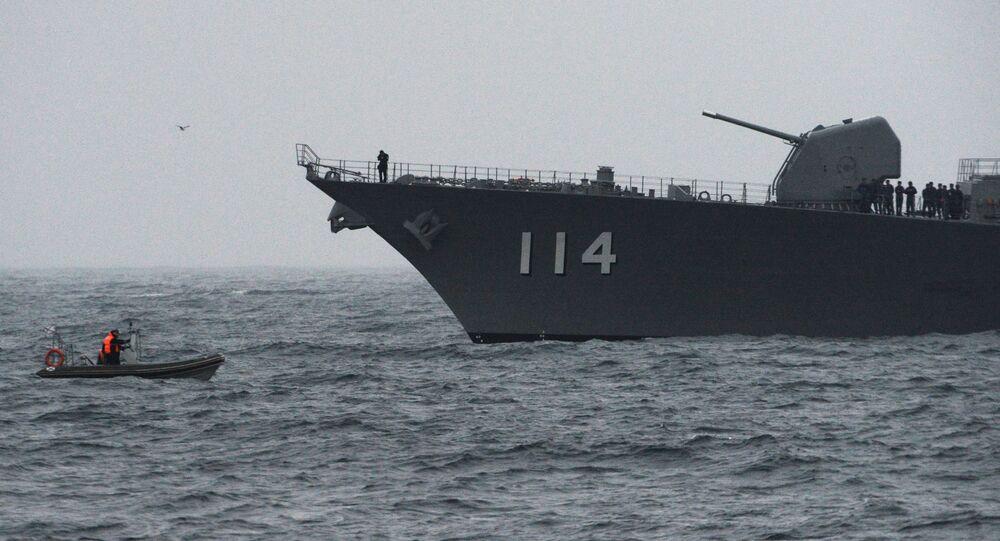 المناورات البحرية العسكرية اليابانية الروسية ساريكس-2019 في مضيق بطرس الأكبر