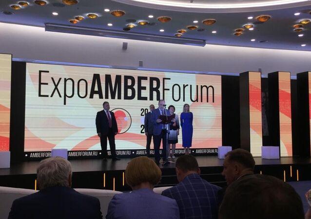 افتتاح المنتدى الدولي الرابع للكهرمان في مقاطعة كالينينغراد الروسية